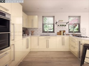 Trademouldings Lumi Cream Gloss Kitchens