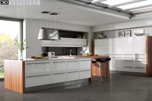 Trademouldings Odyssey White Gloss Kitchen