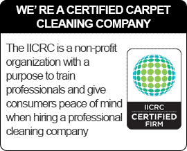 Pro-Line Carpet Cleaning is certified with the IICRC