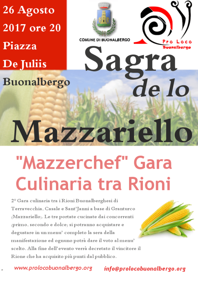 Sagra de lo Mazzariello - Mazzerchef Gara culinaria tra Rioni