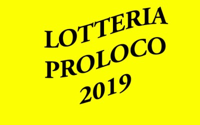 Lotteria ProLoco 2019