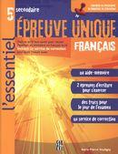 5e secondaire épreuve unique français