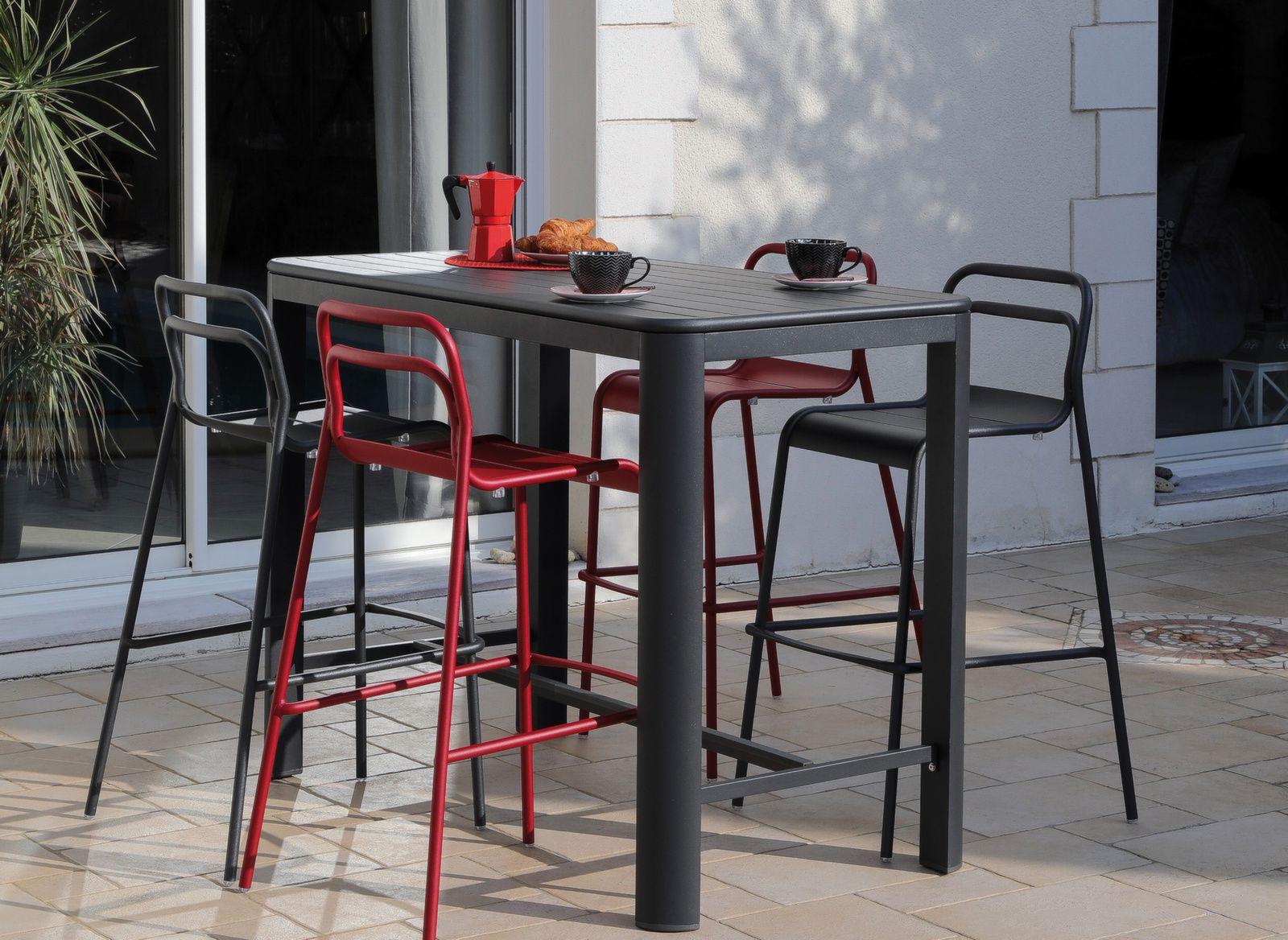 table haute eos 140 cm 4 chaises hautes eos