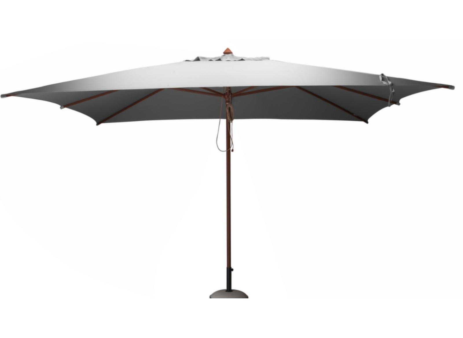 parasol droit bois 3 x 4 m