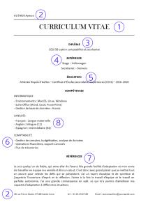 Exemple de CV annoté