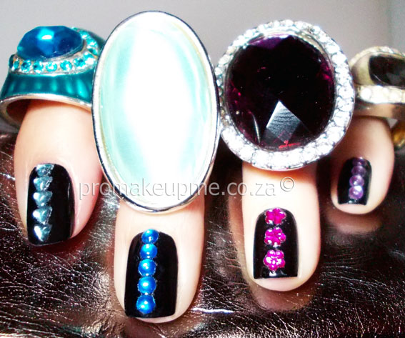 Rhinestones Nail Art costume jewelry
