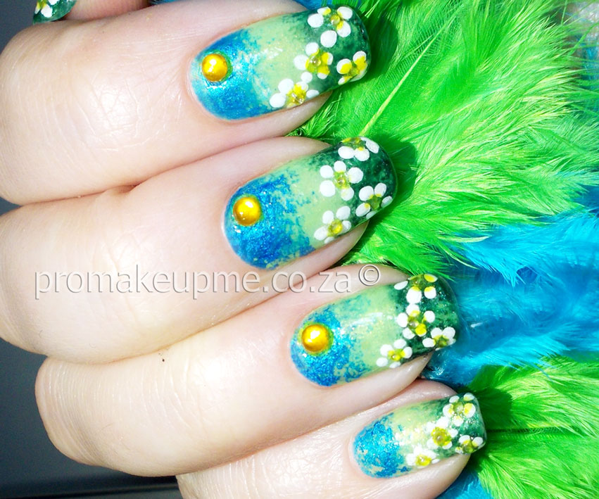 Spring Field Flowers Nail Art