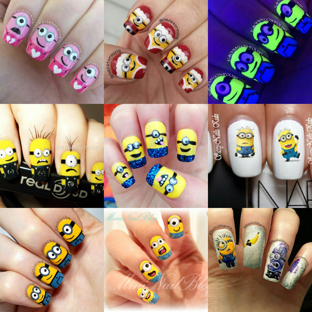 The best of Despicable Me Minion nail art