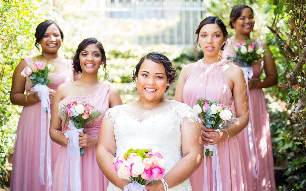 Vania October Wedding MakeUp Bridesmaids Feature