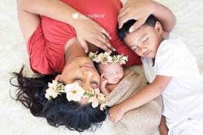 Carlynne NewBorn Family Shoot MakeUp