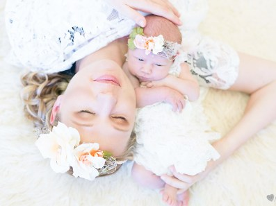 Chanele Newborn Shoot MakeUp Flower Crowns