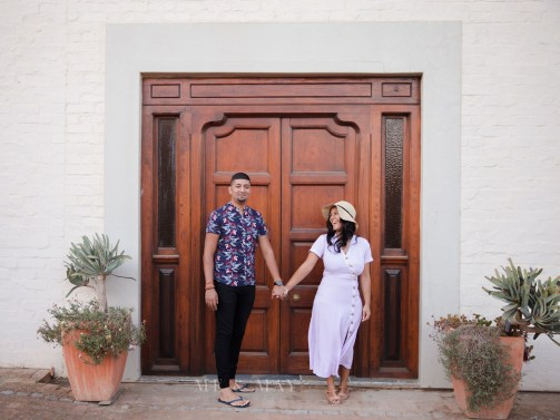 Chavonay Engagement Shoot MakeUp Door