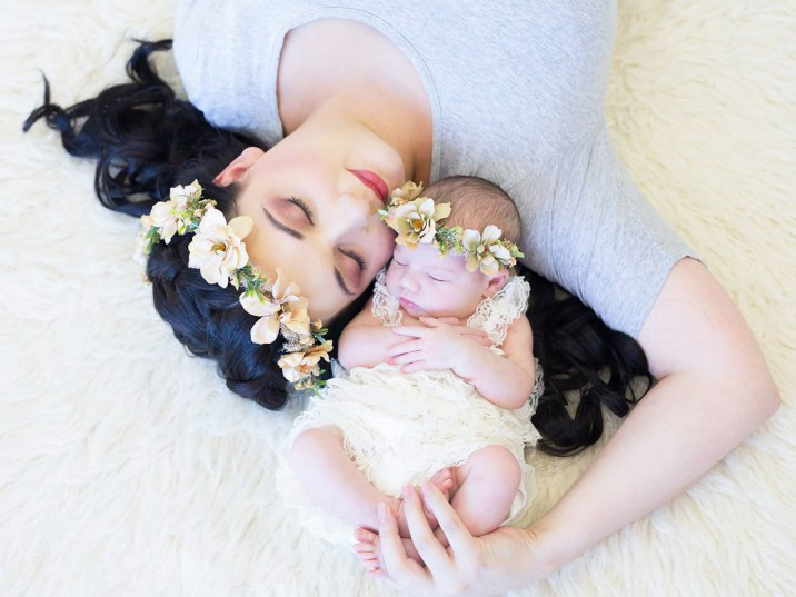 Lauriaan Newborn Shoot MakeUp Flower Crowns