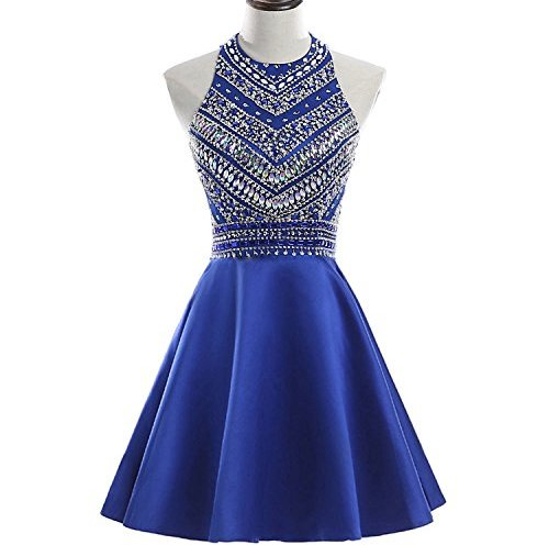 e8dd2908cc7 HEIMO Women s Sparkly Beaded Homecoming Dresses Sequined Prom Gowns Short  H212