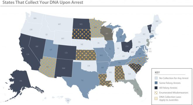 States-That-Collect-Your-DNA-Upon-Arrest