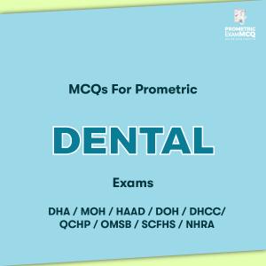MCQs For Prometric Dental Exams