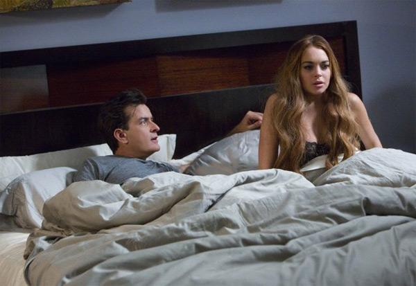 Lindsay Lohan Charlie Sheen Scary Movie 5 Lindsay Lohan ekelte sich vor Charlie Sheen