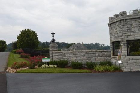 Landscaped Driveway Entrance