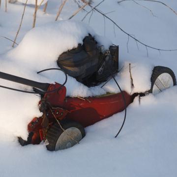 storing mower for winter