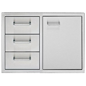 delta heat door three drawer combo
