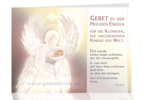 Engelgebetfaltblatt