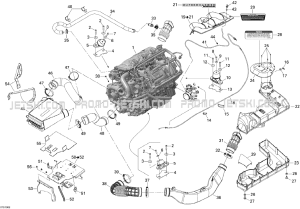 01 Engine for Seadoo RXPX 255 and 255 RS, 2010 2010