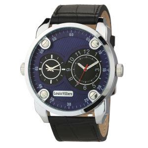 Montre LOUIS VILLIERS Quartz AG373613 Bracelet Cuir Homme