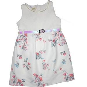 Robe fleurette blanche pour enfant