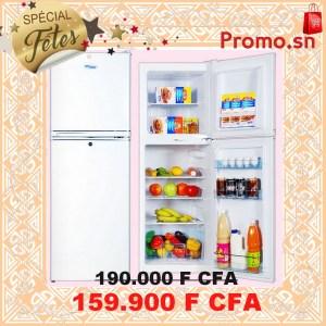 Réfrigérateur Combiné deux portes Super Général 190 Litres
