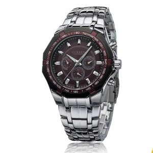 Montre Curren Stainless Waterproof sports fashion business brown