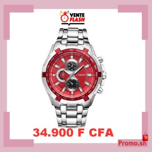 Montres Curren Stainless Steel Chronograph Promo Pink