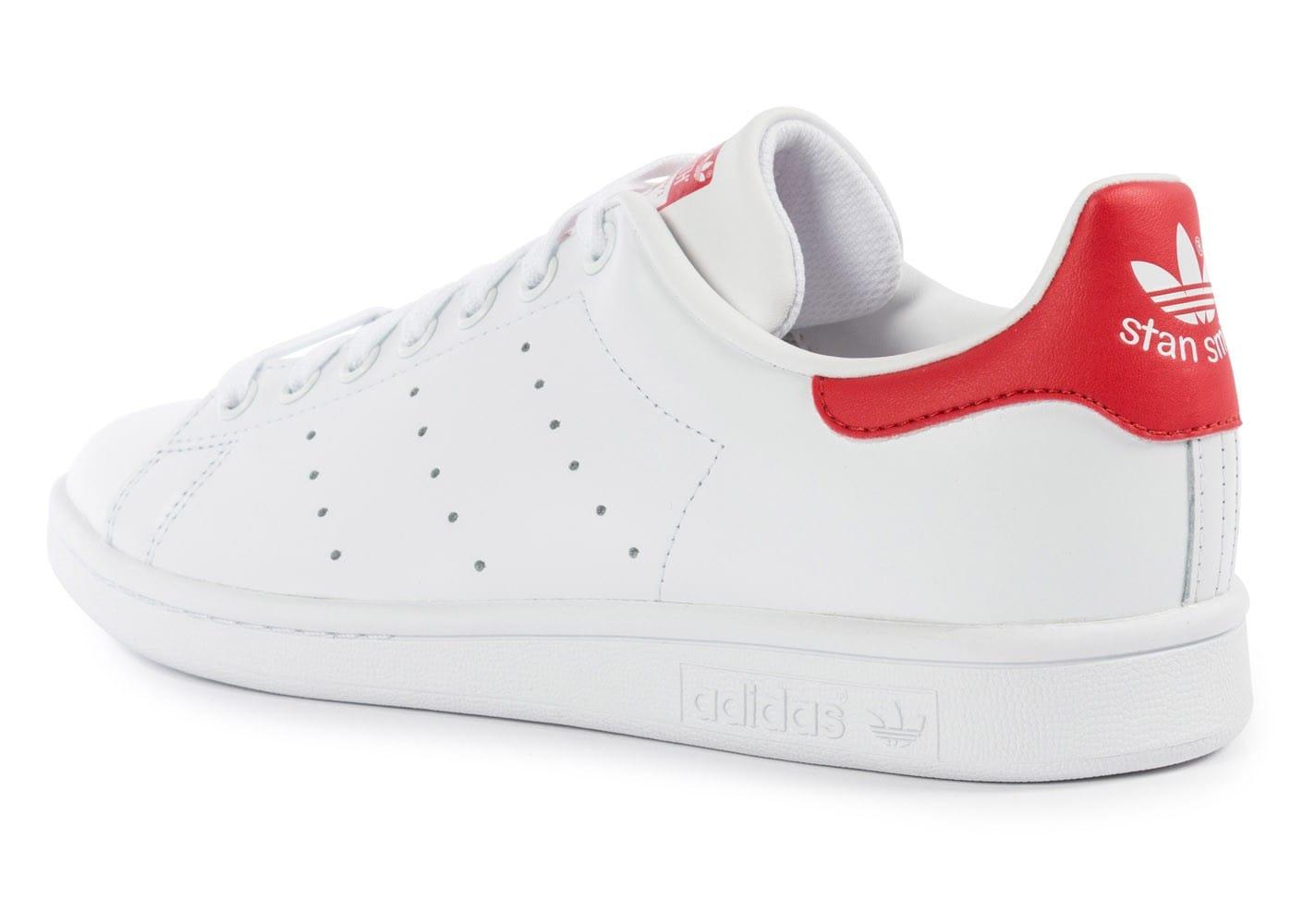 adidas stan smith blanc et rouge