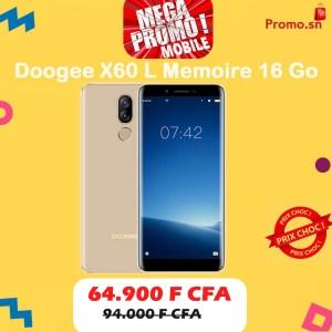 Doogee X60 L Memoire 16 Go Ram 2 Go Connexion 4G Ecran 5.5 pouces Empreinte digitale
