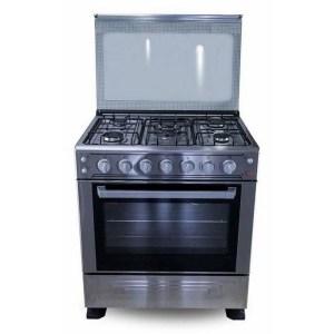 Cuisinière 5 feux Astech 80x60 inox
