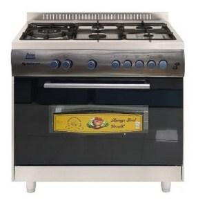 Cuisinière Continental 5 feux 90x60 en inox
