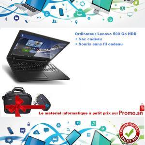 Lenovo IdeaPad Ecran 15'6 Disque dur 500 Go Ram 4 Go + souris sans fil + sac offert