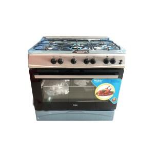 Cuisinière 5 feux Haier dimension 90x60 inox