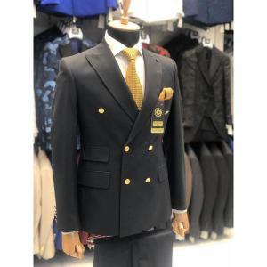 Ensemble costume croisé homme 6 boutons noir