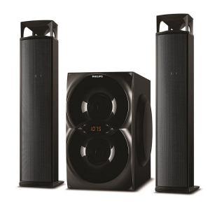 Home cinéma Woofer Philips 50 W FM tuner Bluetooth Convertible Soundbar