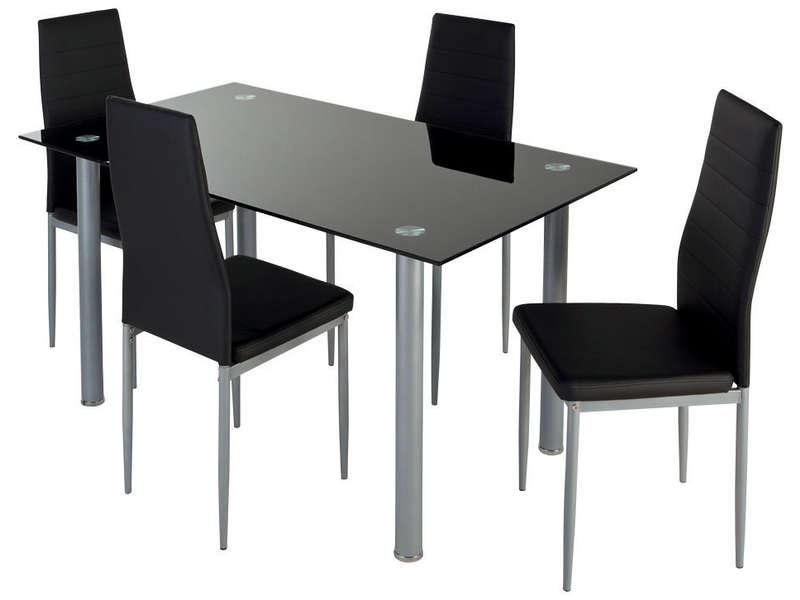 ensemble table 4 chaises promo conforama