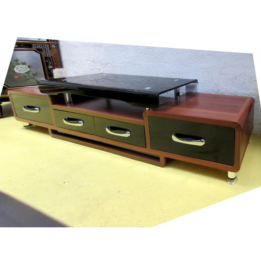 meuble tele hi fi verre et bois magasin du meuble asiatique et chinois