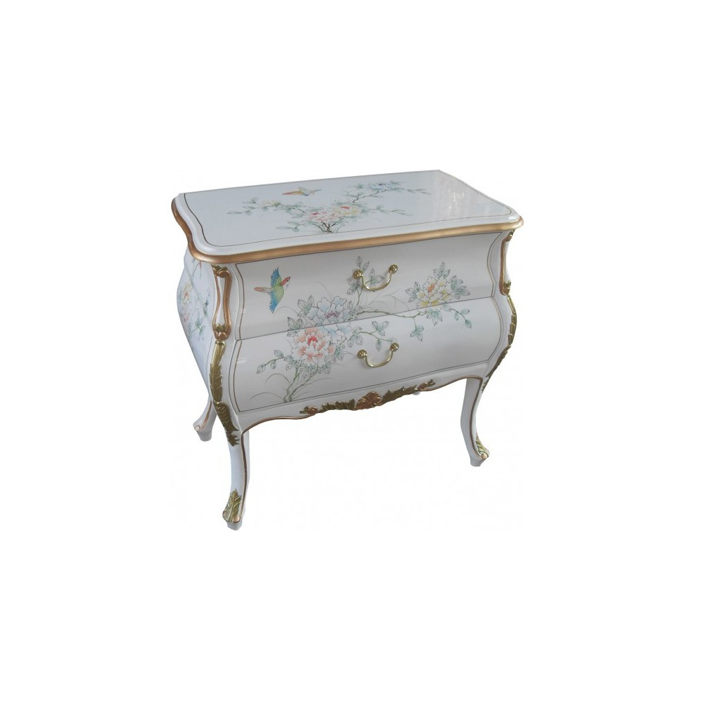 petite commode chinoise laque blanche meubles chinois laques