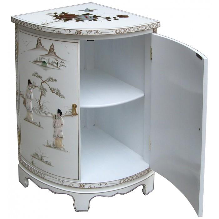meuble d angle blanc chinois meubles chinois laques
