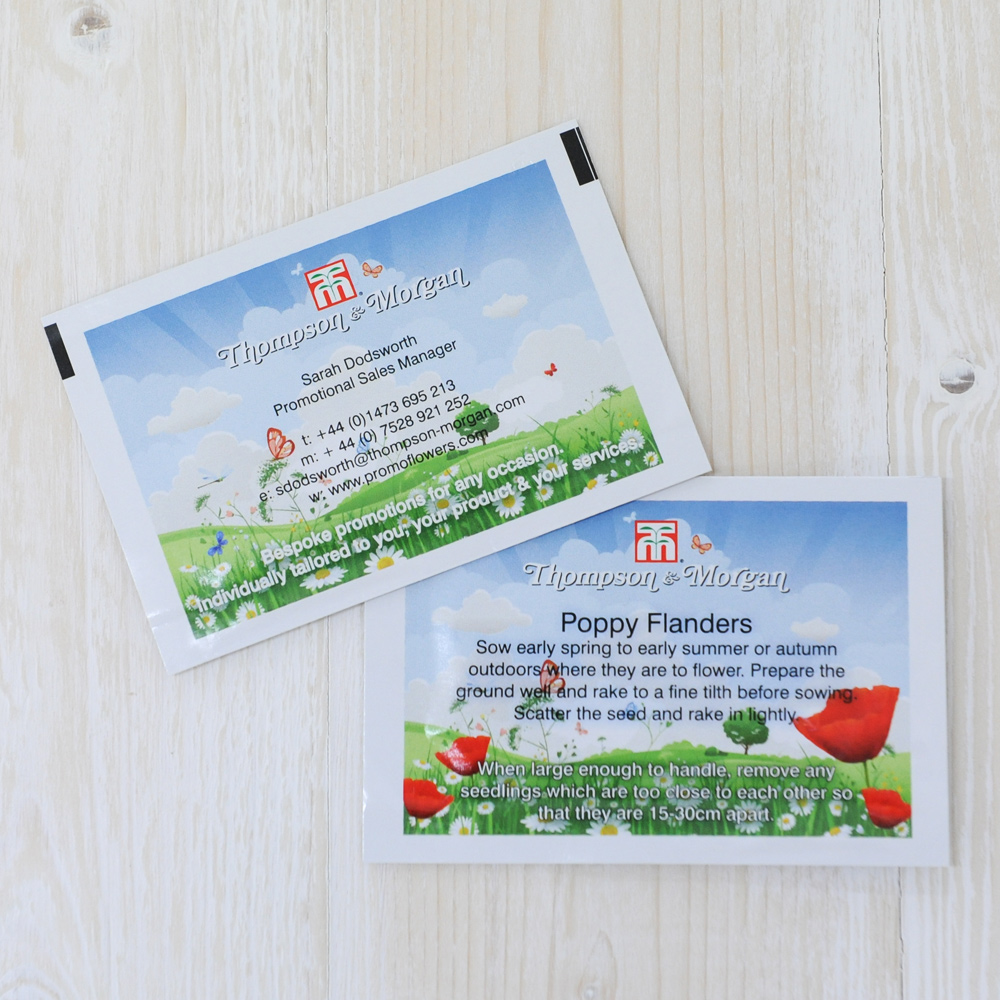Bespoke Seed Packet Business Cards