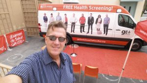 "Nicholas Snow and the ""Get Tested Coachella Valley"" Mobile Testing Van"