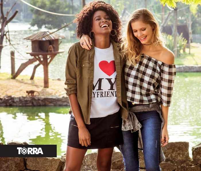 promoções de roupas femininas, masculinas e infantil do Torra Torra