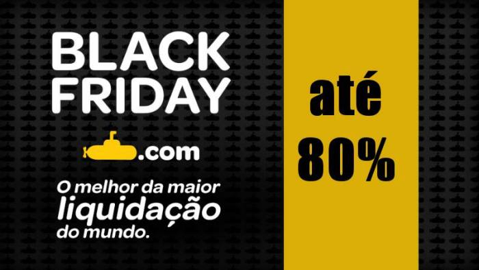 Black Friday Submarino promove descontos até 80% no site