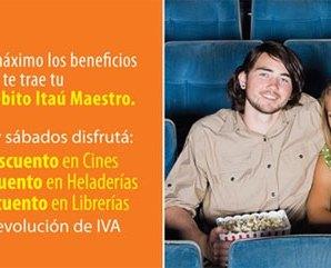 50% en los cines con el Banco Itaú, viernes y sábados