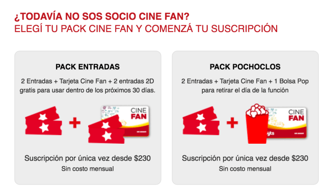 Cinefan una buena opci n para ahorrar en la compra en for Cine capitol precio entrada