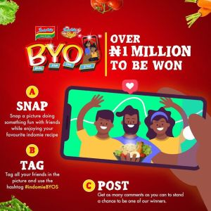 #IndomieBringYourOwnStyle Contest. N1 Million to be Won.